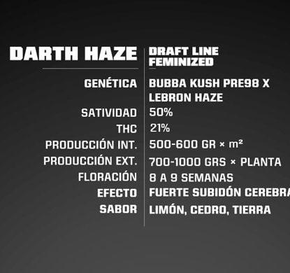 Darth Haze feminized seeds information