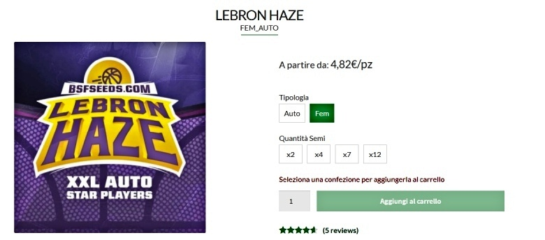 lebron haze hemp seeds