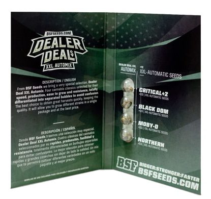 Packaging of Dealer Deal XXL Automix weed seeds kit