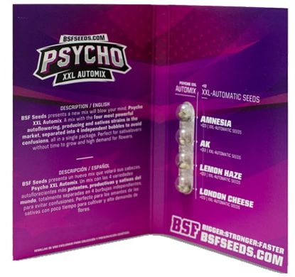 Packaging of Psycho XXL Automix weeds seeds kit