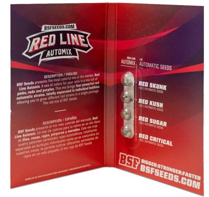 Packaging of Red Line Automix weeds seeds kit