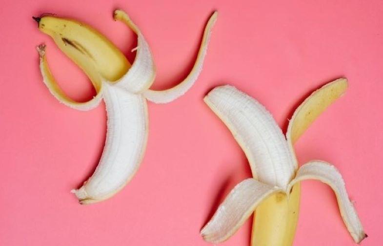 Banana peels as a natural fertilizer for green plants