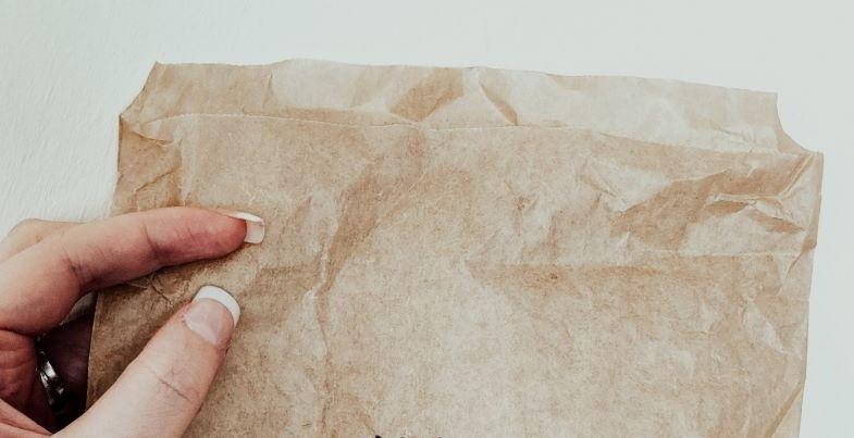 Paper bag for drying marijuana