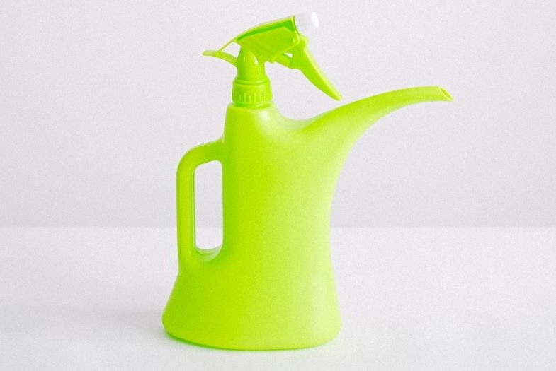 Watering can with spray suitable for the gemination phase
